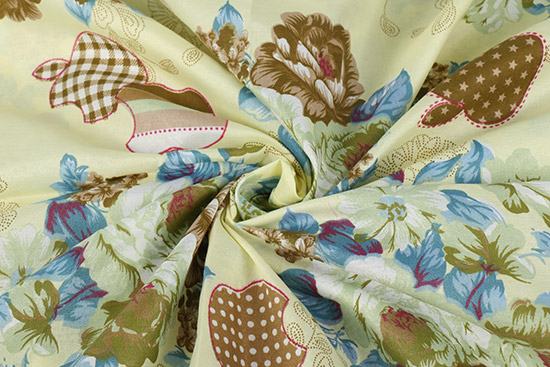 Pigment Printed Fabric Flower Fabric for Bed Sets