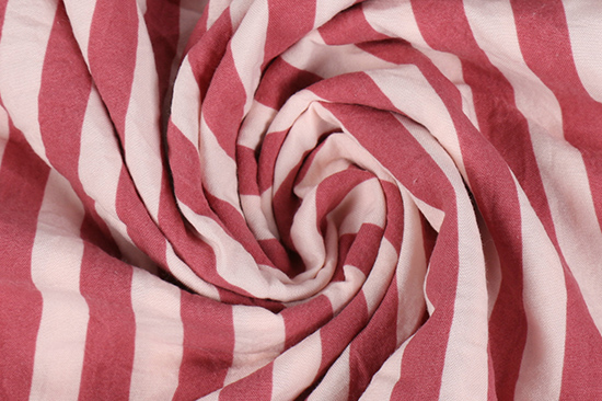 Stripe Fabric Washed Cotton For Bed Sets