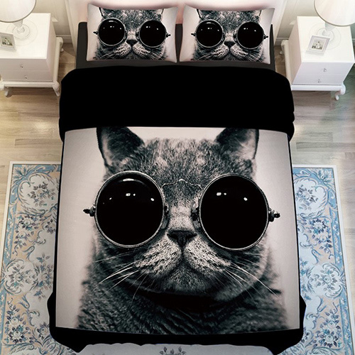 Wholesales 3D Animal Cat Bedding Set 004