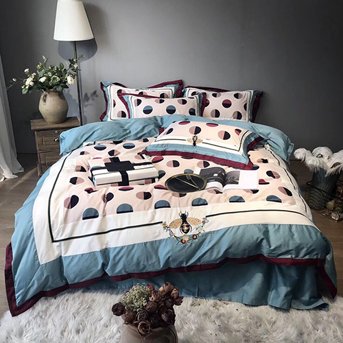 Wholesales Dotted King Size Bedding Set 003